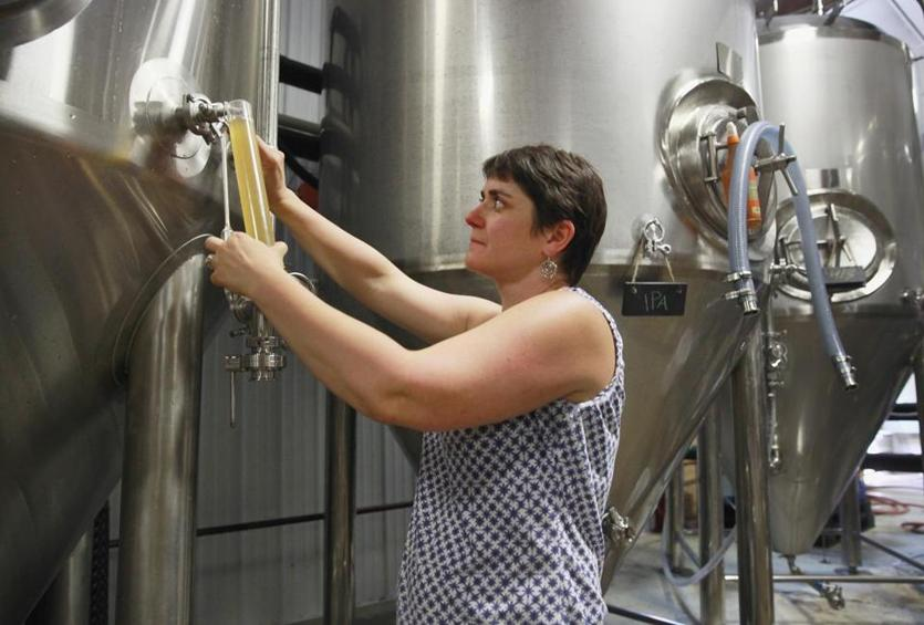 Another trail spotlights beer and cider makers such as Christine Heaton's Big Elm Brewing in Sheffield.